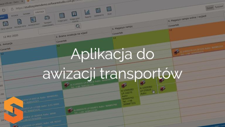 Aplikacja do awizacji transportów